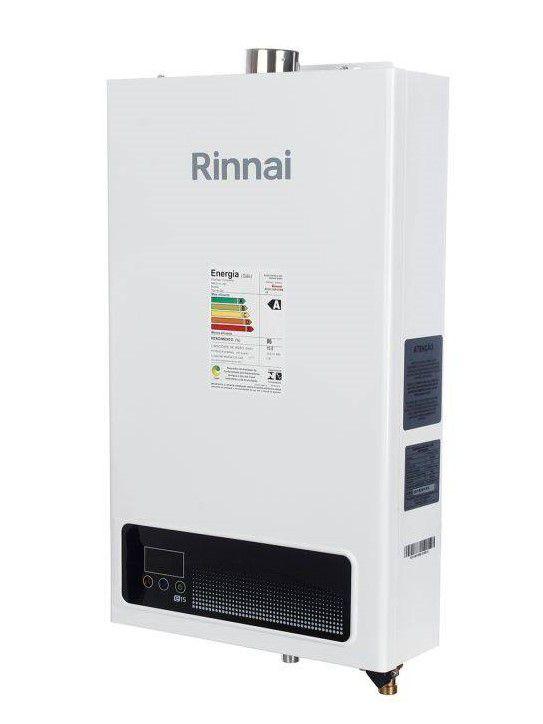 Aquecedor de Água Rinnai E15 Digital - Vazão 15 Litros - Branco - Gás GN