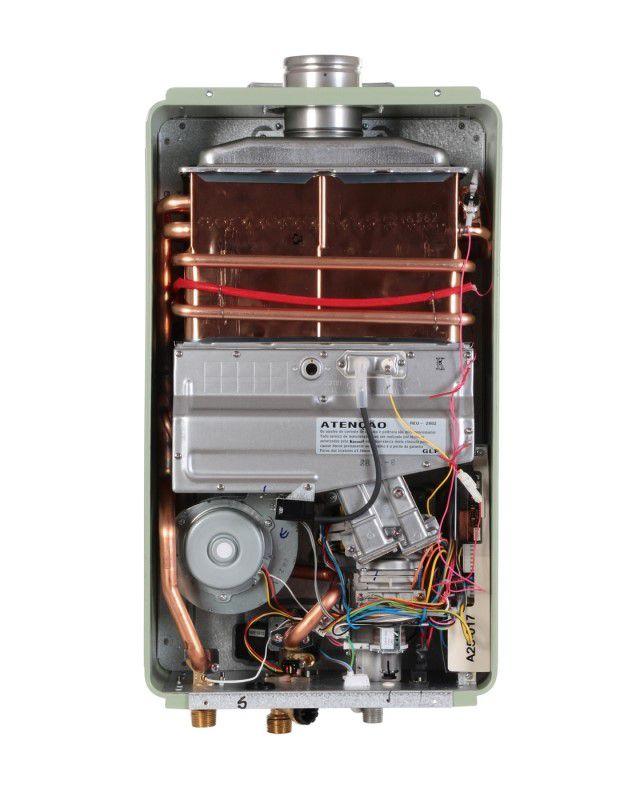 Aquecedor de Água Rinnai REU 2802 FEC Digital - Vazão 35 Litros - Prata - Gás GN