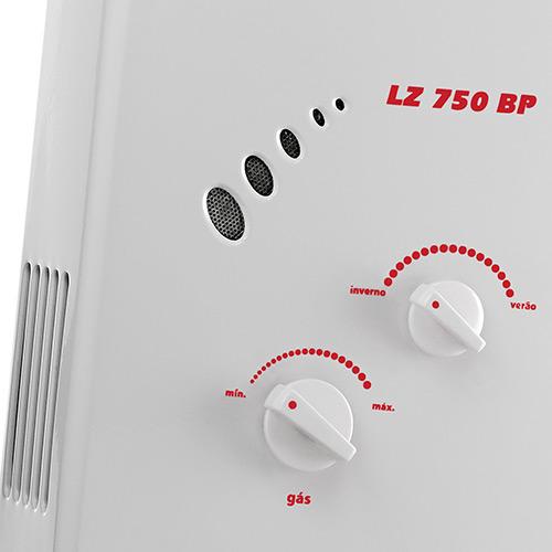 Aquecedor de Água Lorenzetti LZ 750BP Vazão 7,5 Litros Baixa Pressão - Gás GN
