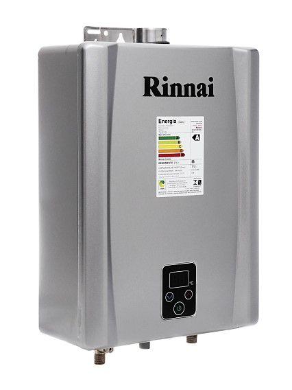Aquecedor de Água Rinnai E17 Digital - Vazão 17 Litros - Prata - Gás GN