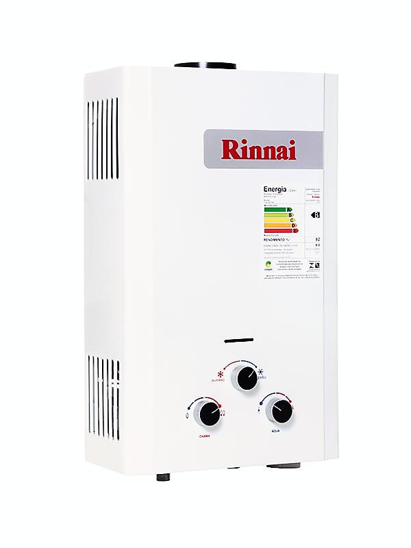 Aquecedor de Água Rinnai M09 - Vazão 9 Litros - Gás GN