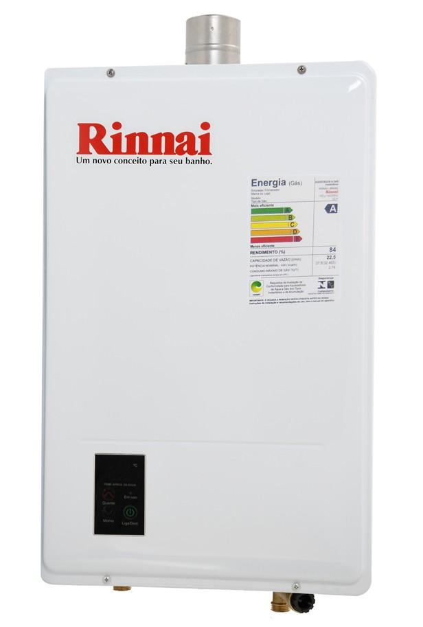 Aquecedor Rinnai REU 1602 FEH 22,5 Litros Digital - Branco