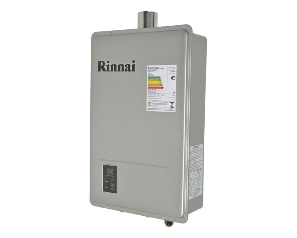 Aquecedor Rinnai REU 1602 FEH 22,5 Litros Digital - Prata