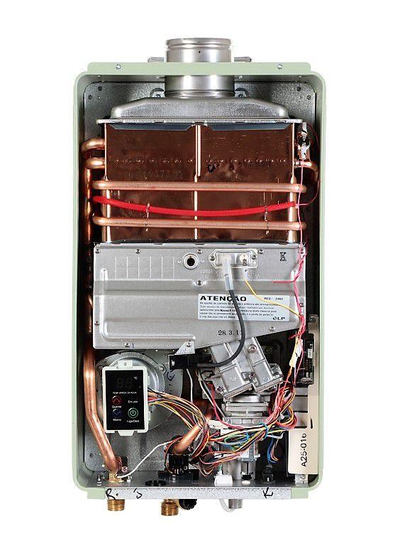 Aquecedor de Água Rinnai REU 2402 FEH Digital - Vazão 32,5 Litros - Branco - Gás GN