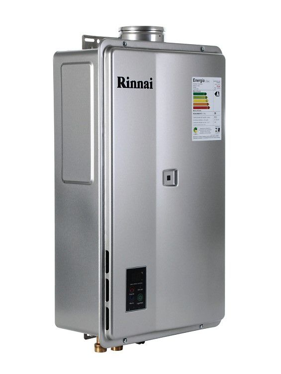 Aquecedor de Água Rinnai REU 2402 FEH Digital - Vazão 32,5 Litros - Prata - Gás GN
