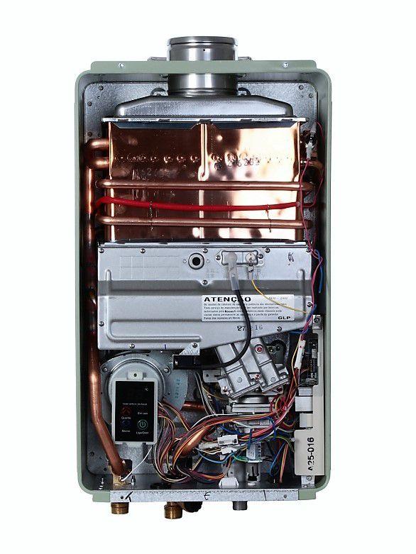 Aquecedor Rinnai REU 2402 FEH Digital - Vazão 32,5 Litros - Prata - Gás GN