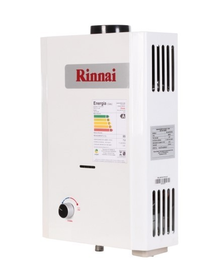 Aquecedor de Água Rinnai M07-BP Vazão 7,5 Litros - Baixa Pressão - Gás GN