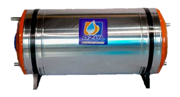 Boiler Elétrico Azul Aquecedores 100 Litros Aço Inox - Alta Pressão