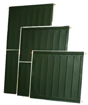 Coletor Solar Vertical Acquatec  2,0m x 1,0m