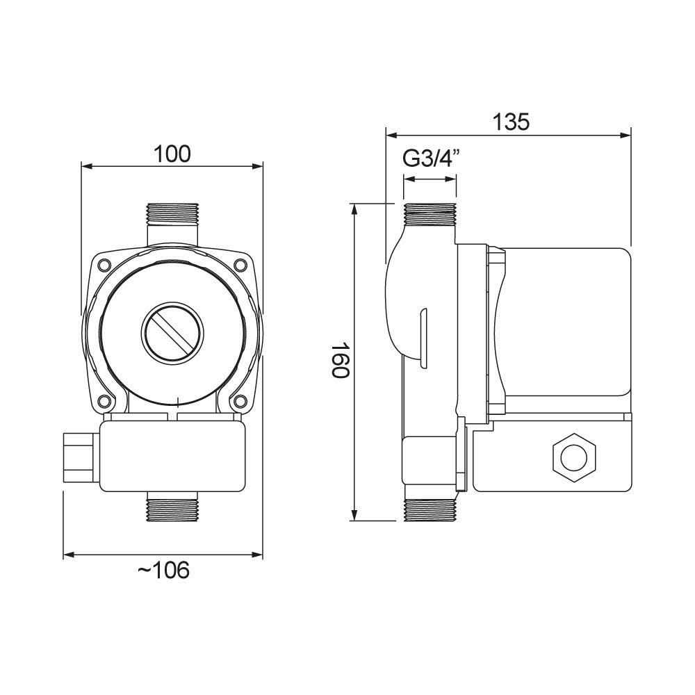 Pressurizador Lorenzetti PL 12 (mca)