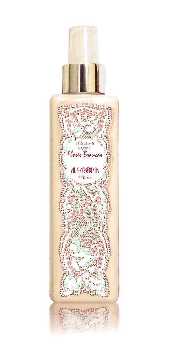Hidratante Líquido Desodorante Flores Brancas Alfaroma 210 ml
