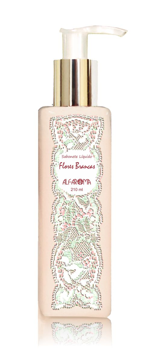 Combo Flores Brancas - Body Splash, Sabonete Líquido e Hidratante Líquido - Alfaroma