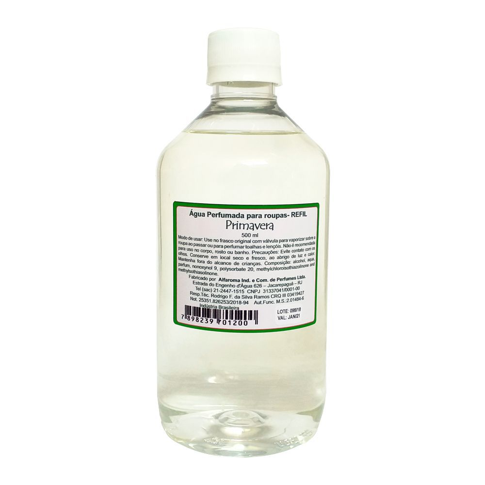 Água Perfumada para Roupas Primavera - Alfaroma