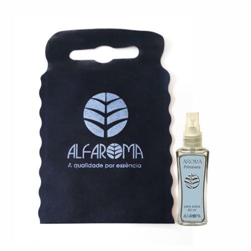 Aromatizador Aroma para Autos Primavera 60ml - Alfaroma + lixeirinha