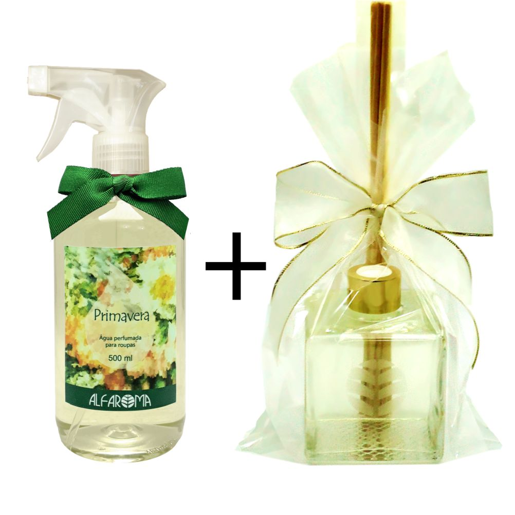 Combo Água perfumada para Roupas Primavera + Aromatizador de ambiente Primavera