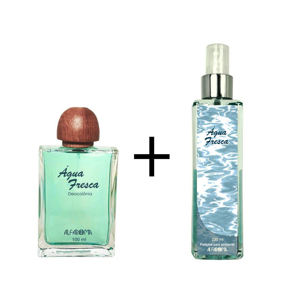 Combo Deo colônia Água Fresca 100 ml + Perfume para Ambiente Água Fresca Alfaroma