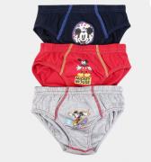 Cueca Slip Lupo kids Mickey Kit 3 unid. 00111-089