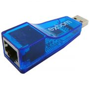 Adaptador USB 2.0 para LAN Placa de Rede Externa RJ45 Exbom UL-100