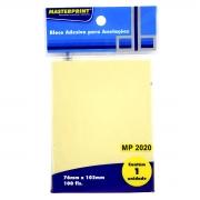 Bloco Adesivo para Anotações Amarelo 76x102mm com 100 Folhas Masterprint MP2020