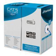 Caixa de Cabo de Rede CAT5 Lan Azul Fortrek 57594 CAT-103/305BL 305 Metros