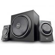 Caixa de Som com Subwoofer Speaker Set Yuri 2.1 120W com Fio Som Potente Graves Dinâmicos Powerful Bass Trust