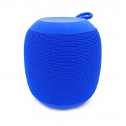 Caixa de Som Portátil Bluetooth 4.2 3W Entrada USB Micro SD Auxiliar P2 Rádio Função Atende Telefone Exbom CS-M26BT Azul