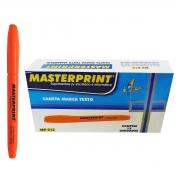 Caneta Marca Texto Laranja com Ponta Chanfrada Masterprint MP612 Pincel MP 612 / Caixa com 12 Unidades