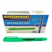 Caneta Marca Texto Verde com Ponta Chanfrada Masterprint MP612 Pincel MP 612 / Caixa com 12 Unidades