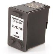 Compatível: Cartucho de Tinta 21 27 56 para HP F4180 F380 J3680 D2360 D2460 3910 3920 3930 D1455 D1360 / Preto / 18ml
