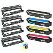 Compatível: Combo 4x Fotocondutor DR221 + Kit Colorido de Toner TN221 TN225 para Brother HL3140 HL3150 HL3170 9055 9340