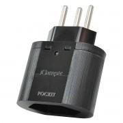 DPS iClamper Pocket 3P 10A Proteção contra Surtos Elétricos para Eletroeletrônicos Clamper Portátil 3 Pinos Preto