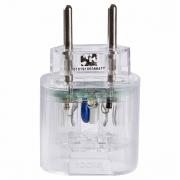 DPS Portátil 2 Pinos 10A Proteção contra Surtos Elétricos em Ambientes Sem Aterramento Clamper Pocket 2P Transparente