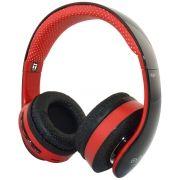 Headphone Bluetooth com Rádio FM SD Reader Fone Mode Estéreo Exbom HF-440BT Vermelho