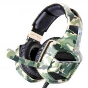 Headphone Gamer Camuflado 7.1 Surround Drive Stereo Super Bass Microfone Articulado p/ PS4 PC Celular XSoldado GH-X2700