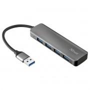 Hub USB 3.2 Gen1 de 4 Portas com Velocidade até 5 Gbps 10x3cm em Alumínio Halyx