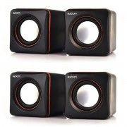 Kit 2x / Mini Caixa de Som 2.0 4W RMS para PC Notebook e Celular Exbom CS-39