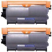 Compatível: Kit 2x Toner TN450 TN420 TN410 para Brother HL-2130 HL-2132 DCP-7055 DCP-7060 DCP-7065 / Preto / 2.600