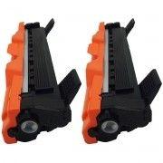 Kit 2x / Toner Compatível Brother TN-1000 TN-1030 TN-1060 / DCP1617 1617NW DCP-1512 HL-1212 1212W 1612W / Preto / 1.000