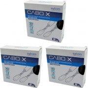 Kit 3x / Cabo HDMI 10 metros Blindado com Filtro e Malha de Nylon Versão 1.4 Suporte 3D Full HD 1080 Exbom CBX-H100CM