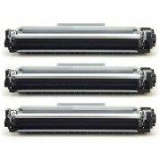 kit 3x / Toner Compatível Brother TN2340 TN2370 TN660 / L2520 L2320D L2360DW L2360 L2540DW MFC-L2740DW L2720DW / Preto