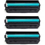 Kit 3x / Toner Compatível HP CF283A 83A / M125 M125A M126A M126NW M127 M127FN M127FW M128FN M225 M225DW / Preto / 1.500