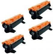 Kit 4x / Toner Compatível Brother TN-1000 TN-1060 / DCP-1612W DCP-1510 DCP-1602 DCP-1518 DCP-1612 1617W / Preto / 1.000