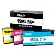 Kit Colorido 4 Cores / Cartucho de Tinta Compatível HP 950xl 951xl / 8100 8600 8600W 8620 8610 251DW N911A