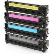 Kit Colorido 4 Cores / Toner Compatível 125A 128A 131A para HP CP1215 CM1312 CM1415 CP1510 CP1525 M251 M251NW M276 M276N