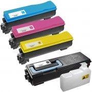 Kit Colorido 4 Cores / Toner Compatível Kyocera TK-582 TK582 / FSC5150 FSC5150DN C5150DN Ecosys P6021 P6021CDN 6021CDN
