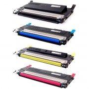 Kit Colorido 4 Cores / Toner Compatível Samsung CLT-407 407S / CLP-320 320N CLP-325 325W 3180 3185 3185N 3185FN 3185FW