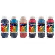 Kit Colorido 6 Cores / Tinta Corante para impressora Epson L800 L805 L810 L850 L1800 / Refil 1kg cada