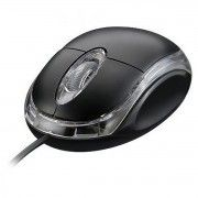 Mini Mouse USB 1000dpi Óptico LED Azul com Scroll Exbom MS-10 Preto