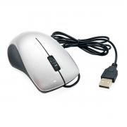 Mouse com cabo USB 1000DPIs Exbom MS-47 Prata com Acabamento Brilhante