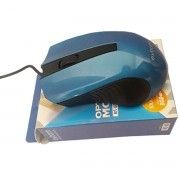 Mouse USB Clássico Azul Resolução 1000 DPI Exbom MS-60